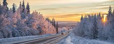 Winter road in northern Sweden by Robin Eriksson on 500px