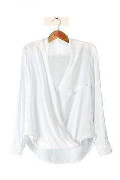 Blouse drapée blanche