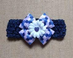 Venda del bebé venda azul diadema de por GloriaMillerCreation