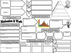 Psychology Motivation and Work Concept Graphic Organizer