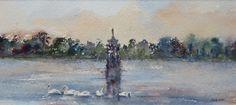 Art For Sale, Watercolour, Fountain, Diana, Park, Painting, Pen And Wash, Watercolor Painting, Watercolor