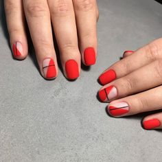 Сама мысль о том, что ты вся такая красивая плюс этот стильный маникюр ходишь, гуляешь, работаешь, носишь его с платьями, джинсами и пижамой.. греет душу и радует☺️  Есть места на эту неделю. Звоните +380935652956  #chiccornerkiev #ногти #маникюр #ногтикиев #маникюркиев #мастерманикюра #ногтиборщаговка #ногтисвятошин #ногтиакадемгородок #маникюрборщаговка #маникюрсвятошин Gel Nails, Acrylic Nails, Manicures, Nail Polish, Cute Nails, Pretty Nails, Red Nail Designs, Minimalist Nails, Dream Nails