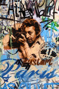 Paris 3 - impasse des arbalétriers - street art - bust