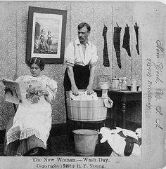 * The New Woman - Wash Day 1901 Suffragettes