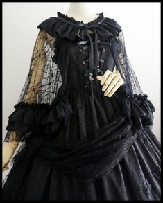 Magic Potion -Lilith- Cobweb Lace Gothic Lolita Cape
