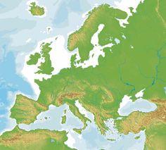 Γεωμορφολογικός χάρτης Ευρώπης