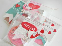 valentine treat bags   pebbles inc... - Two Peas in a Bucket