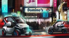 """Domino's Pizza and crowd-source automaker Local Motors have announced the winner in their """"Ultimate Delivery Vehicle"""" contest. Pizza Delivery, Automotive News, Pizza Hut, Cool Cars, Concept, Vehicles, Future, Design, Closer"""