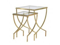 We love this Curved Greek Set of Two Nesting Tables. With their simple but stylish gold finished design they are an ideal way to add a sophisticated touch to your living room. Their metal frame is offset by two sleek glass table tops. Furniture, Table Furniture, Nesting Tables, Side Table, Curved Table, Glass Top Table, Table, Glass Side Tables, Living Room Table