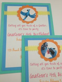 Disney Rio Invite by InkCouture on Etsy, $25.00