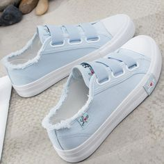 Sneakers Canvas shoes for Women fashion 2019 Solid Superstar Hook Loop Vulcanize shoes Girls Zapatillas mujer Women's Shoes, Cute Shoes, Me Too Shoes, Shoes Sneakers, Flat Shoes, Shoes Style, Wing Shoes, Dance Shoes, Girls Shoes