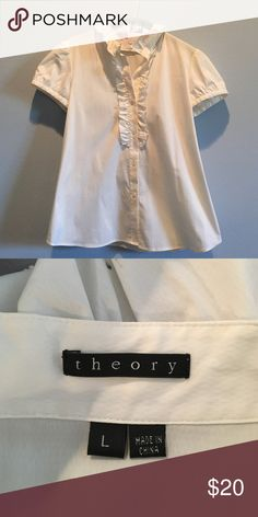 Theory button down top worn once Theory Tops Button Down Shirts