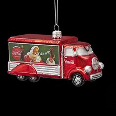 Pack of 6 Red Glass CocaCola Delivery Truck Christmas Ornaments 5 -- This is an Amazon Affiliate link. Continue to the product at the image link.