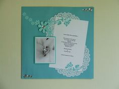 the Little Scrapper: Wedding Scrapbook...great way to display wedding invitation