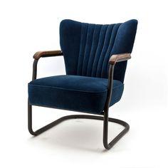 New Blue Velvet Armchair Velvet Armchair, Swivel Armchair, Sofa Chair, Pierre Guariche, Leather Club Chairs, Mid Century Chair, Barrel Chair, Quality Furniture, Blue Velvet