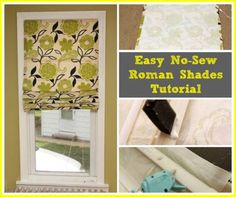 Easy DIY No Sew Roman Shades Tutorial | DIY Tag
