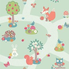 Forest Friends Mint wallpaper by Arthouse for nursery?