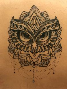 Owl mandala tattoo