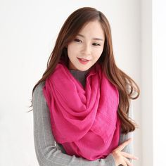 2016 패션 겨울 스카프 여성의 히잡 스카프 순수한 컬러 스카프 브랜드 럭셔리 여성 겨울 숄 랩