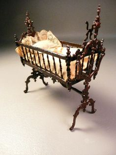 P1180003.JPG 480×640 pixels (jt-this lovely 1/12 scale cradle actually swings. Circa: 19th Century)