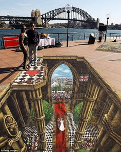 A 3D interactive art featuring the Royal Wedding