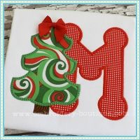 Just how cute is this Christmas alphabet applique? Christmas Tree Applique Alphabet