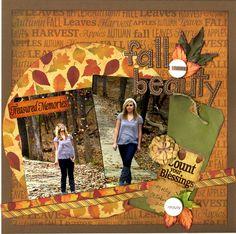 fall scrapbook layouts | Reminisce Autumn Harvest Fall Layout - ... | Scrapbooking - Seasons