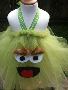 Oscar the grouch Halloween Costume Tutu Dress