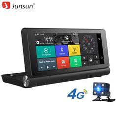 Junsun E28 Car DVR Camera 4G Supported Plus Android 5.0 GPS Bluetooth Dash Cam Registrar ADAS Video Recorder with two cameras