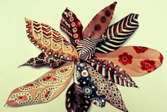 DIY painted leaves on Eco Chic