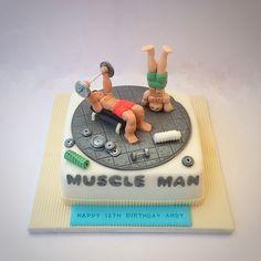 Muscle man cake