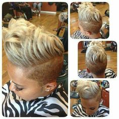 She wanted a gray tint . ❤️ she left a satisfied client Short Black Hairstyles, Undercut Hairstyles, Girl Hairstyles, Indian Hairstyles, Short Sassy Hair, Short Hair Cuts, Short Hair Styles, Pixie Cuts, Love Hair