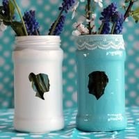 DIY Transform Old Jam Jars Into Stunning Silhouette Vases