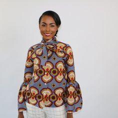 The Victoria Blouse  ~DKK ~African fashion, Ankara, kitenge, African women dresses, African prints, African men's fashion, Nigerian style, Ghanaian fashion.