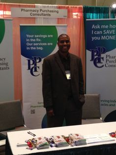 Our CEO, Rory Wright at the PPC booth.