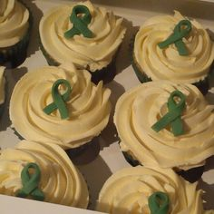 Macmillan cancer cupcakes, for a charity morning.