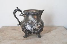 Victorian creamer  Standard Silver Co  antique by SumertaDesigns