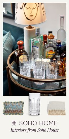 Shop glassware, lighting and textiles