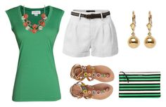 Untitled #488 by alliedrover on Polyvore featuring polyvore, fashion, style, Velvet by Graham & Spencer, LE3NO, Laidback London, Lanvin, Palm Beach Jewelry, Mixit and clothing