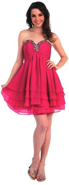 Ruched Bodice Short Dress