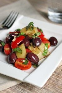 paleo. pretty much tomato & cucumber salad with olives. like the idea of adding olives.
