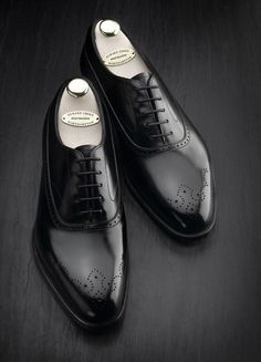 Edward Green black wingtips. So elegant and so beautiful.