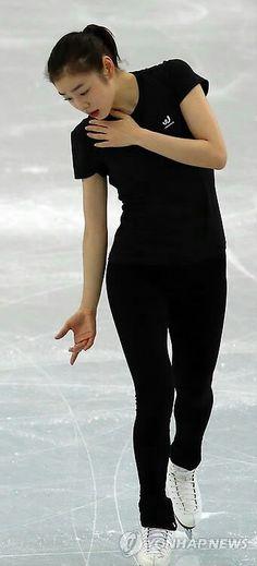Queen yuna Kim figure skating practice