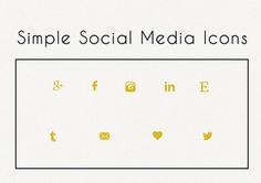 Stylish Flat Social Media Icons Set by Zoku_Designs on Creative Market