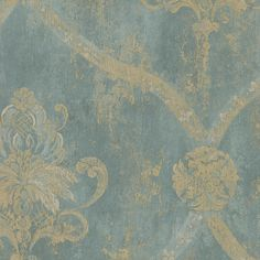 The open trellis style damask also has an aged appearance in soft, aged gold with cream accents. This elegant damask pattern would add subtle color and pattern to your Victorian, antique chic or traditional decor.