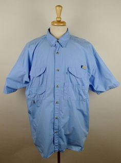 Hook tackle sportsmen 39 s gear vented fishing shirt xl for Baby fishing shirts columbia