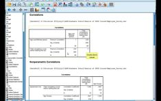 Interpret SPSS output for correlations: Pearson's r