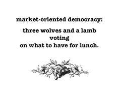 Market oriented democracy
