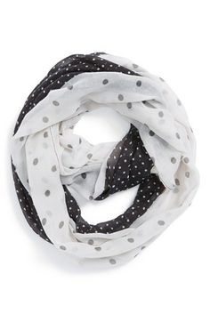 double polka dot scarf! So cute!