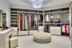 Wish list: A closet so big you could sleep in it.